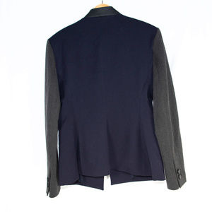 Express Jackets & Coats - New Express blue, grey 'Editor' blazer jacket